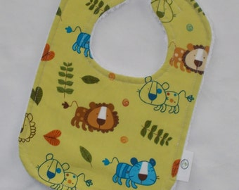 On a Whim Lions Chenille Bib