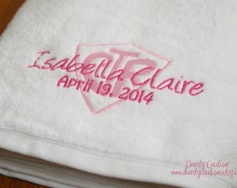 CTR Baptism Towel - Pink - LDS gift - Personalized Towel