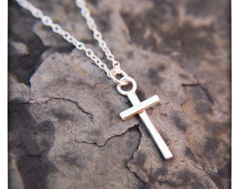 Sterling Silver Everyday Simple Cross Necklace