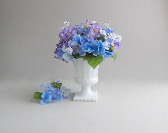 Vintage Milk Glass Planter Pedestal Vase Footed Planter