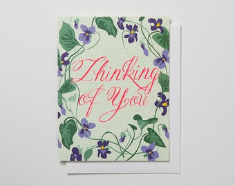 Thinking of You - Violet Note Card