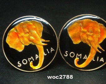 1950 Somalia  coin cufflinks  Rare and UNC 20mm