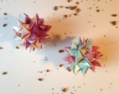 SALE Set of 2 Mini Paper Star Supernovas