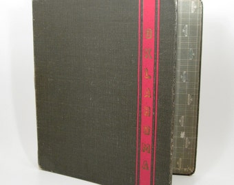 Vintage University of Oklahoma - OU - 3-Ring Binder Notebook - Collegiate School Supplies - Norman Oklahoma
