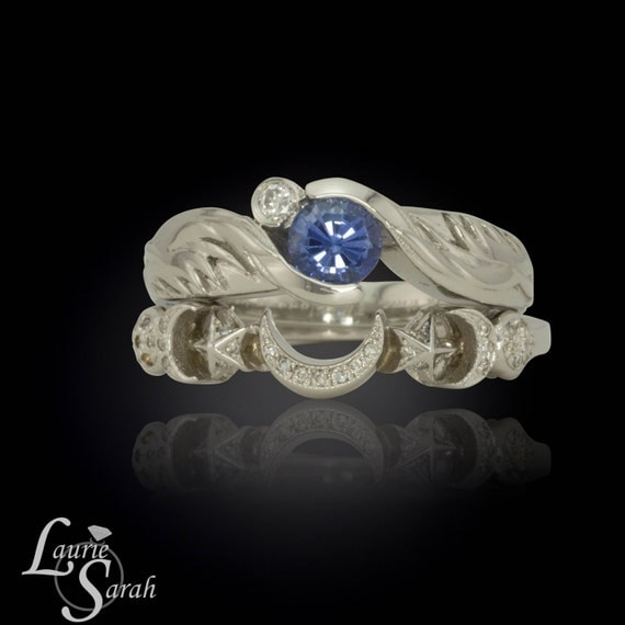 Customize Moon And Stars Rings