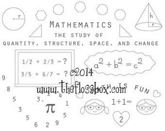 Mathematics embroidery pattern