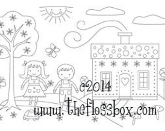 Hansel and Gretel Embroidery Pattern