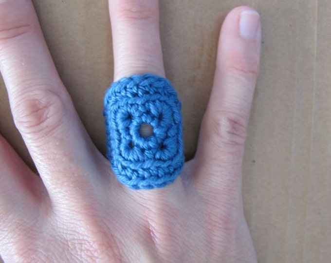 Fiberpunk™ Ring - Denim Blue - Fits Sizes 6 and 7 - Cotton