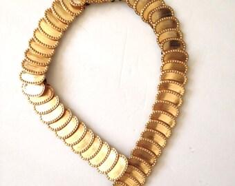 Gold Belt 80s Stretch Hip Hop Vintage Size S