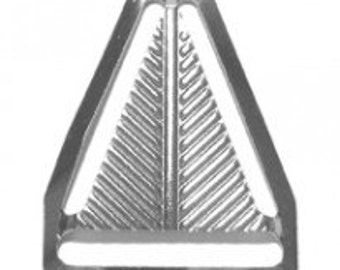 "10 PIECES - 1"" - Herring Bone Triangle Back, Nickel Plated"