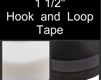 """25 YARDS -  1 1/2"""" - Hook and Loop, Sew On, 1.5 inch - Velcro Brand - WHITE or BLACK"""