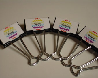 Days of the Week TEACHER ORGANIZERS Binder Clips Rainbow Chevron