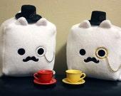 Custom Order- Dapper Kitty Cube Plush Doll for Rick