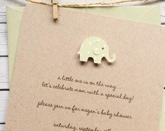 Baby Shower Invitation - Kraft Cardstock