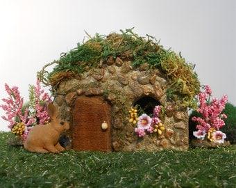 Fairy House, Fairy Garden, Miniature Garden, Stone Fairy House, Outdoor Fairy House, Cottage, English Garden, Stone Garden House