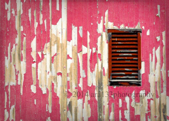 Clearance rustic red home decor barn photo pink red country for Clearance home decor