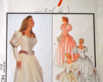 Vintage Sewing Pattern Style 2757 Misses Wedding Gowns  COMPLETE Bust 30-40 inch