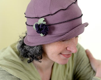 Organic Cloche Hat - All Season Hat - Organic Cotton and Hemp - Emma Rose
