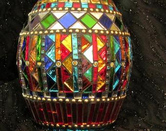 Mirrored Mosaic Bottle
