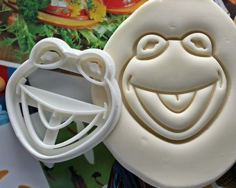 Muppets Kermit The Frog Cookie Cutter / Made From Biodegradable Material / Brand New / Party Favor / Kids Birthday / Baby Shower / Cake Top