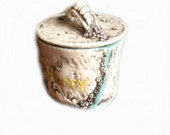 Coastal Living Style Honey Pot with Barnacles and star fish