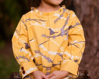 Golden Sparrow Dress Made to Order for Girls size 6 mos through 12 years