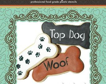 Dog Bone Cookie Stencil Set (no cutter) - Designer Stencils (CS001)