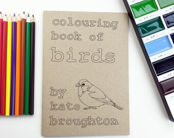 colouring book of birds (100% recycled)