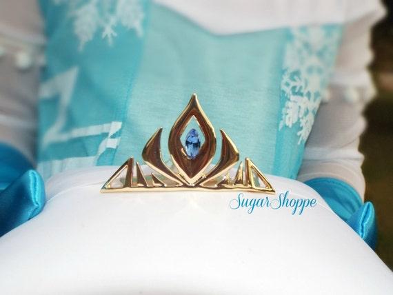 Elsa Frozen Inspired Gold Crown Tiara Hair Comb, Queen Elsa Gloves, Ready to Ship, Elsa Tiara, Elsa Kleid, Elsa Crown