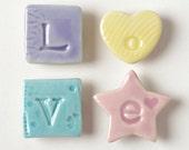 Porcelain Love Fridge Magnets