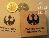 P63 May the force be with you-- rubber stamp