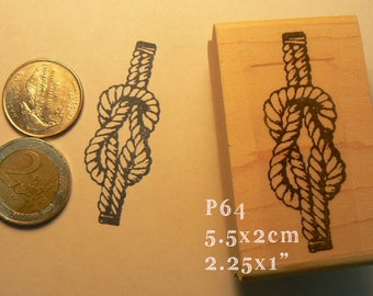 P64 Nautical knot rubber stamp
