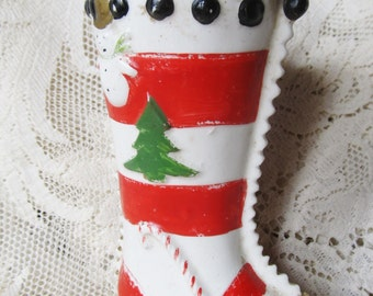 Vintage 1950's Christmas Stocking Bank By Shafford