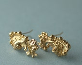Gold barrettes bridal antique style wedding Marie Antoinette French golden petite hair clip pair wedding hair accessory