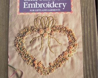 Book,Vintage,1990,Silk Ribbon Embroidery,Jenny Bradford,Craft,Milner Craft Series