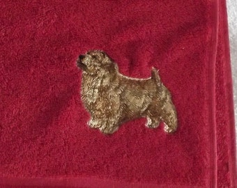 Norfolk terrier Dog Embroidered Hand Towel