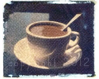Polaroid transfer - Coffee in the East Village