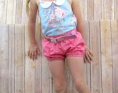 UPLOAD sale---spb Layla bubble shorts set with peter pan collar halter and headband scarf  sizes 1-7 available