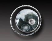 Ocean Jasper Ring Sterling Silver Planetarium handmade Ring