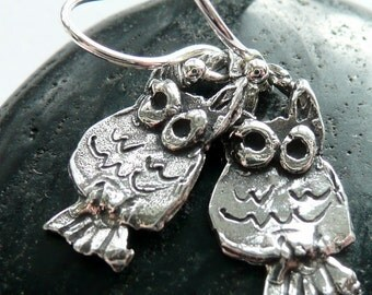 Tiny Artisan Sterling Silver Owls