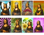 Mood Mona ACEO Digital Collage Sheet Instant download