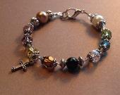 Psalm 23 - Swarovski Crystal Bracelet A - FREE USA SHIPPING -