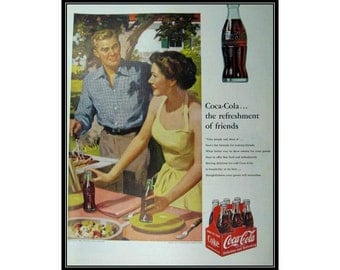 Coca-Cola Picnic Vintage Advertising Kitchen Restaurant Wall Art Decor E105