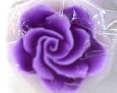 Purple Rose Cane, Polymer Clay Flower, Plum Millefiore Raw Unbaked