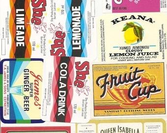 32 different old vintage Soda LABELS PEPPER UP , She,
