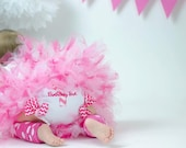 Diaper Cover - 1st Birthday Baby Bloomer - Baby Girl Tutu Diaper Cover - Monogram Baby