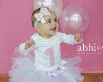 Snowflake 1st Birthday Tutu Set - Winter ONEderland - Baby Girl Cake Smash - Winter Birthday - 1st Birthday Tutu Set
