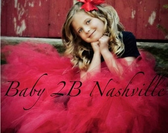 Wedding Flower Girl Portrait Tutu  Your Colors  All sizes up to Girls 8 Slim