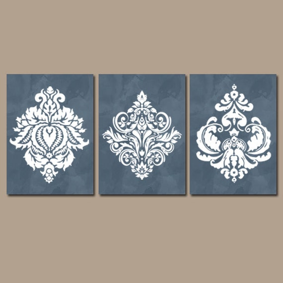 Light Blue Bathroom Wall Art Canvas Or Prints Blue Bedroom: Damask Wall Art Bedroom Pictures Canvas Or Prints