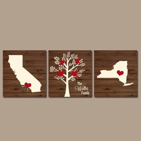 two states family tree canvas or prints personalized by. Black Bedroom Furniture Sets. Home Design Ideas